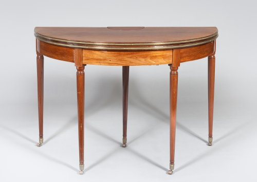 Table de brelan d'époque Louis XVI - Mobilier Style Louis XVI