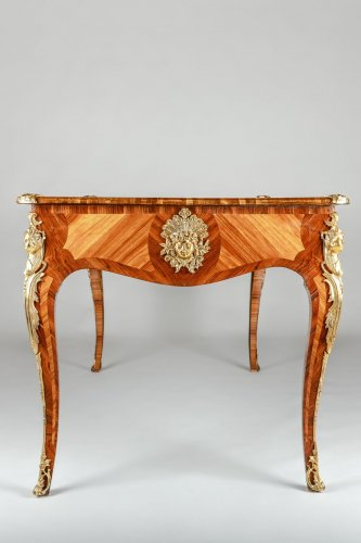 Furniture  - A Louis XV style Bureau Plat