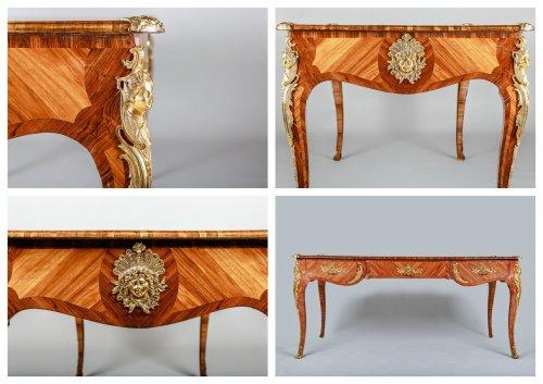Antiquités - A Louis XV style Bureau Plat