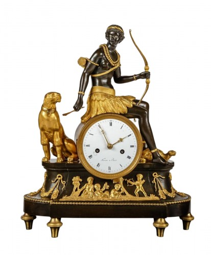 "An Empire clock ""L'Afrique"""