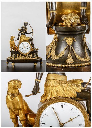"19th century - An Empire clock ""L'Afrique"""