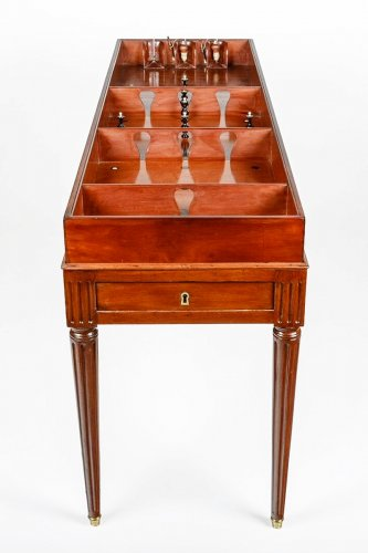 "Game table called ""game of the King"" Circa 1790, stamped ""Biennais, Au Singe Violet""."
