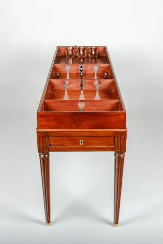 "18th century - Game table called ""game of the King"" Circa 1790, stamped ""Biennais, Au Singe Violet""."