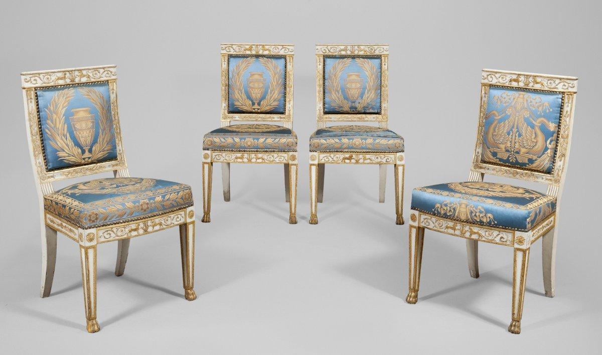 mobilier de salon en bois patin et dor italie circa. Black Bedroom Furniture Sets. Home Design Ideas