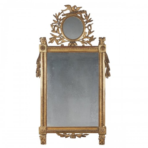 A fine french Louis XVI giltwood mirror