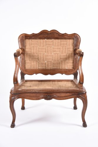 Seating  - Rare French Louis XV fauteuil with system forming bed