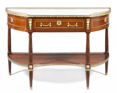Large Louis XVI console in mahogany stamped Pierre-François Guignard