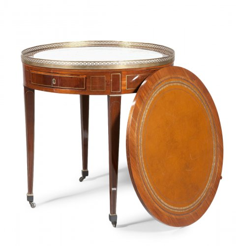 A Louis XVI mahogany table bouillotte