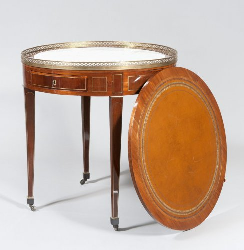 A Louis XVI mahogany table bouillotte -