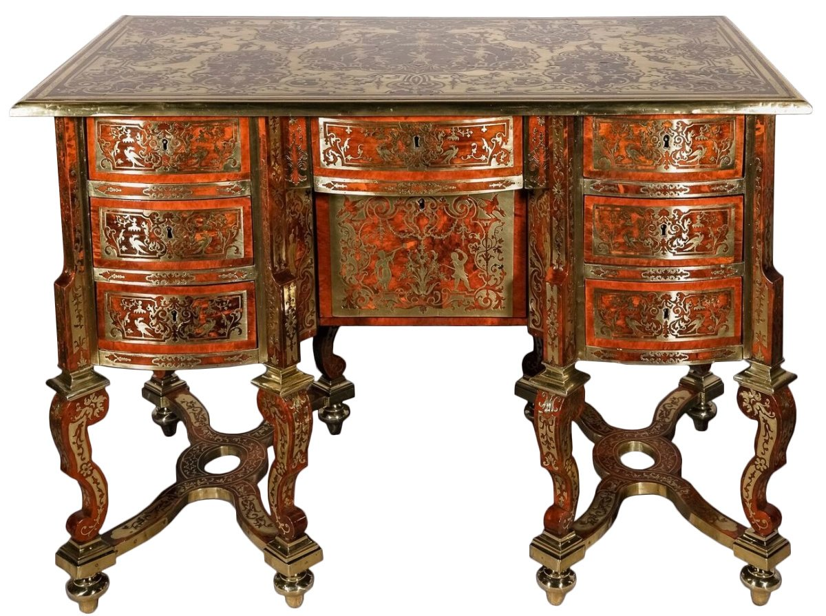 french louis xiv boulle marquetry bureau mazarin. Black Bedroom Furniture Sets. Home Design Ideas