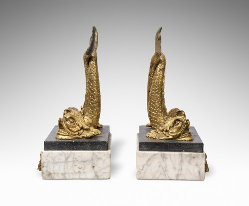 Pair of Bronze dolphins - Decorative Objects Style
