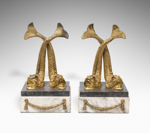 Decorative Objects  - Pair of Bronze dolphins