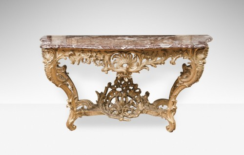 Furniture  - Large Louis XV giltwood console table