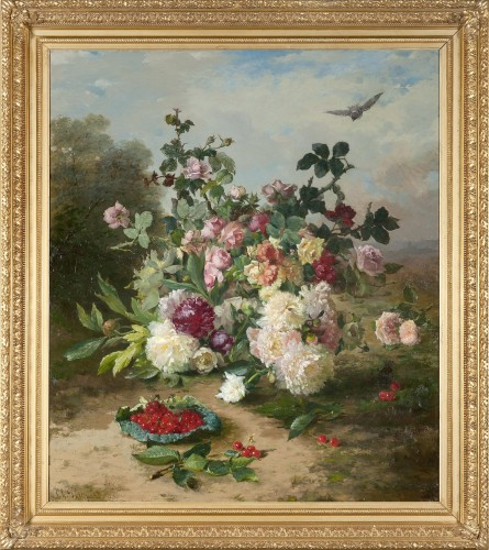 Still life with a bouquet of flowers - Ch. Philipard