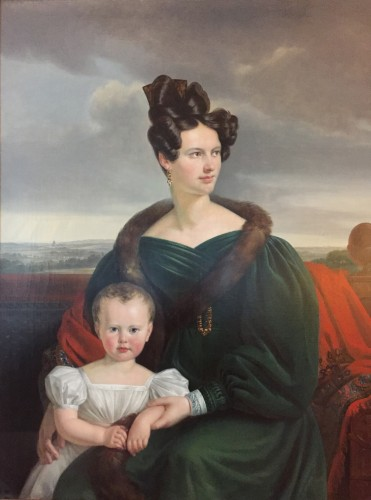 Charles Picqué (1799 - 1869) - Portrait of Madame Maréchal and her child