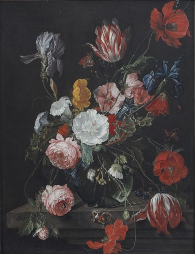 David Cornelisz DE HEEM (Antwerp 1663 - 1714) - Bouquet of tulips, poppy, anemones