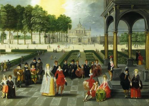 Louis de CAULLERY (circa 1580 - 1622) - Fête galante in a park