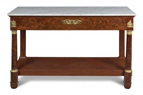 Empire mahogany console