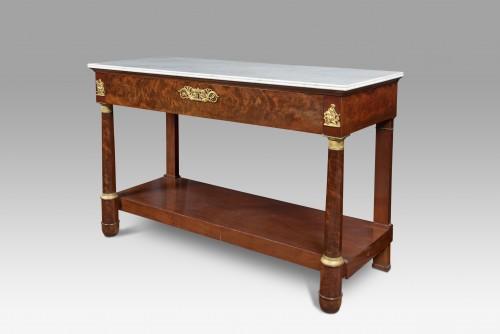 Empire mahogany console - Furniture Style Empire