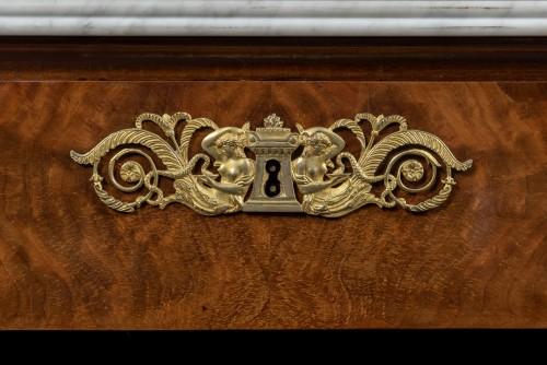 Empire mahogany console -