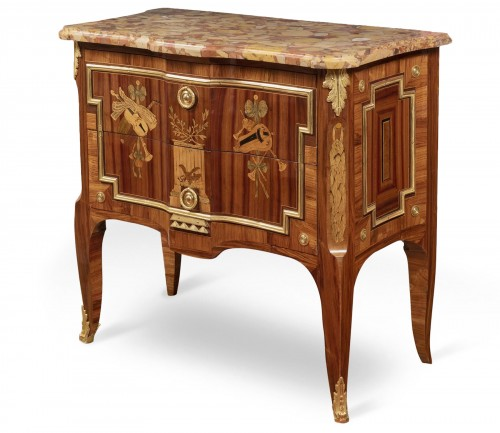 French 18th century Transition commode with inlay stamped by Nicolas PETIT