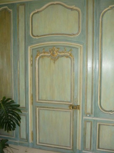 Architectural & Garden  - Louis XV boiserie panted and gilded wooden panels