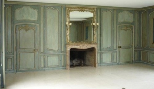 Antiquités - Louis XV boiserie panted and gilded wooden panels