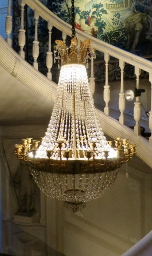 Charles X chandelier with thirty-six lights