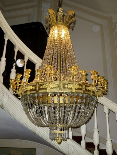 Charles X chandelier with thirty-six lights - Lighting Style Restauration - Charles X