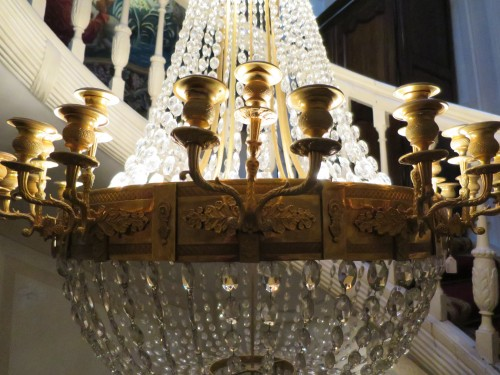 Charles X chandelier with thirty-six lights -