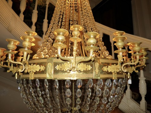 19th century - Charles X chandelier with thirty-six lights