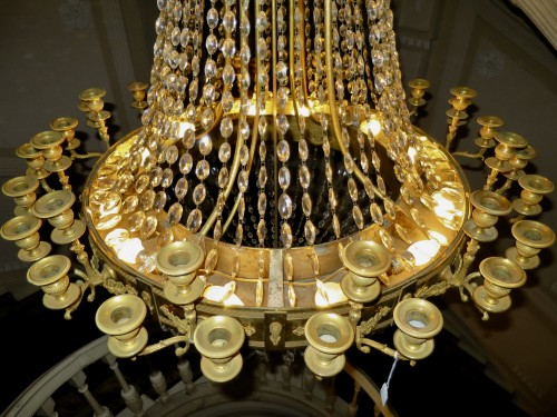 Restauration - Charles X - Charles X chandelier with thirty-six lights