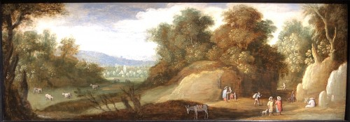 Marten RYCKAERT (1587 - 1631) - The hunt & Landscape with gypsies - Paintings & Drawings Style Louis XIII