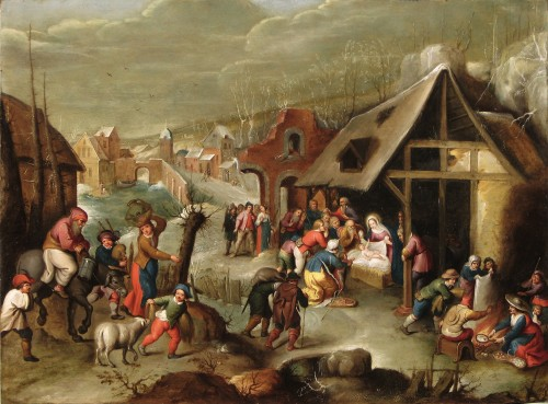 Cornelis DE BAELLIEUR (Antwerp 1607 - 1671) - Adoration of the shepherds