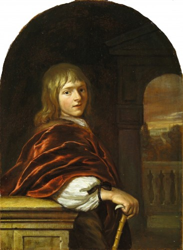 Paintings & Drawings  - Carel DE MOOR (Leiden 1656 - Warmond 1738) - Portrait of a young man