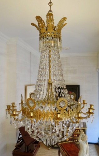 Charles X chandelier with 14 lights
