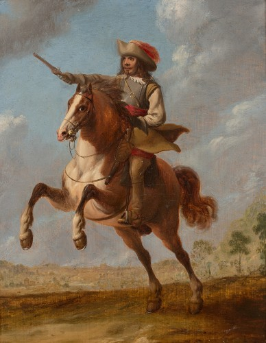 "Monogrammist ""L B"" (Flanders 17th century - Two cavalry officers - Paintings & Drawings Style"