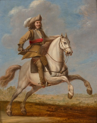 "Paintings & Drawings  - Monogrammist ""L B"" (Flanders 17th century - Two cavalry officers"