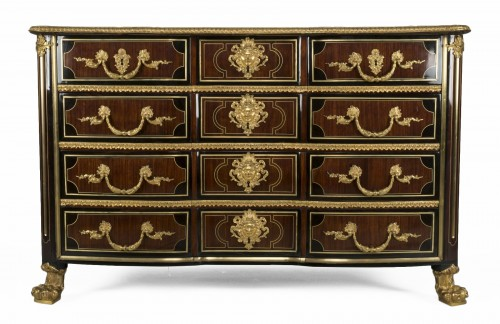 Régence commode, amaranth and ebony, early 18th century