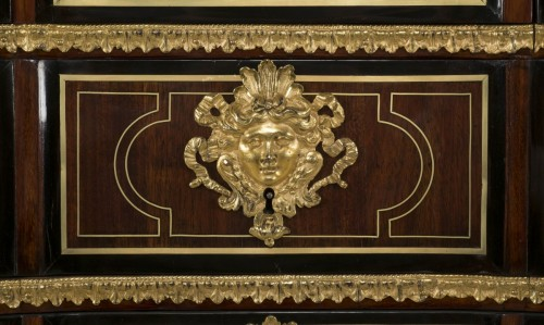 18th century - Régence commode, amaranth and ebony, early 18th century