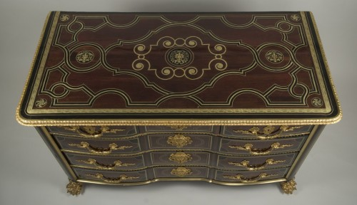 Antiquités - Régence commode, amaranth and ebony, early 18th century