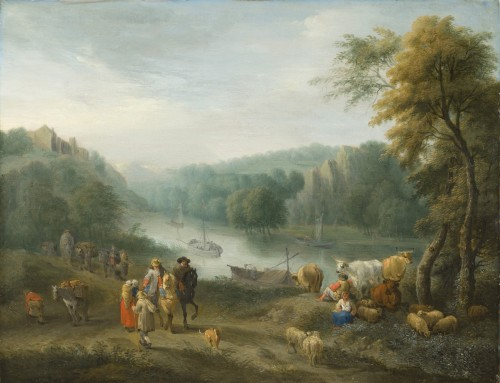 Paintings & Drawings  - Balthazar Beschey (Antwerp 1708 - 1776) - Pair of landscapes with figures