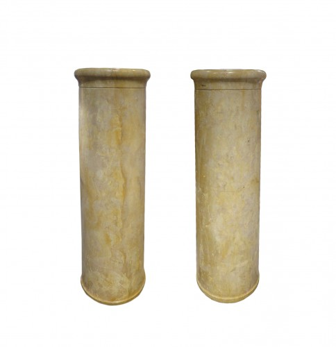 Pair of marble columns Italy 18th century