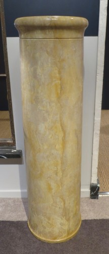 Pair of marble columns Italy 18th century - Decorative Objects Style