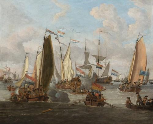 Jacobus Storck (1641 - 1692) - Marine Painting