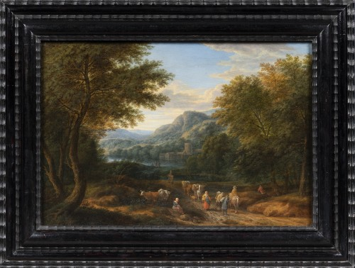 Adriaen Frans Boudewijns (Brussels 1644 - 1711) - Landscape with travellers - Paintings & Drawings Style