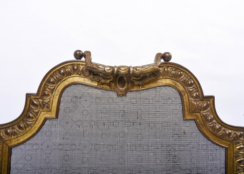 Fire screen gilded brass and bronze - Decorative Objects Style