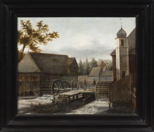 Jan Van Kessel (Amsterdam 1641 - 1680) - The water mill - Paintings & Drawings Style