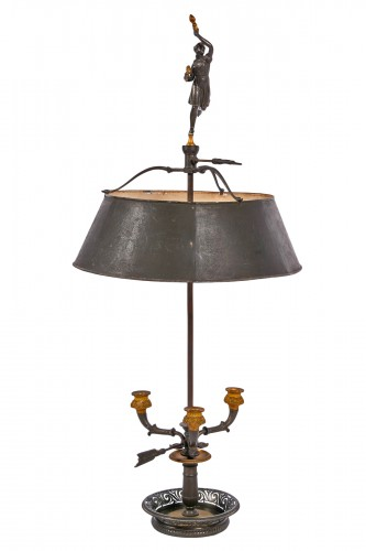 Bouillotte lamp with antique draped woman