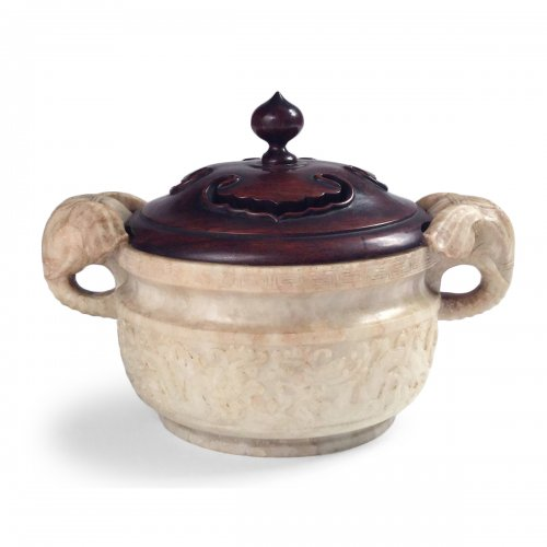 China, An unusual soapstone censer, Ming Period.